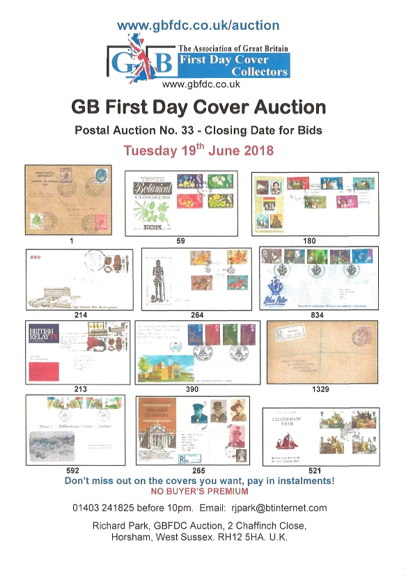 A33 auction front page